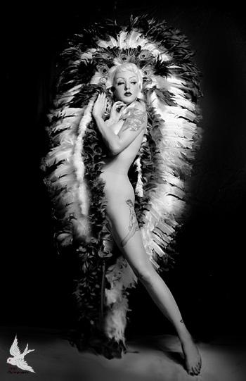 Female model photo shoot of 666photography in 666studio Austin, Texas