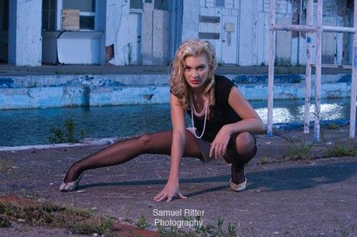 Female model photo shoot of Juliana R by Samuel Ritter Photo in on location at Belle Isle Boat Club, makeup by Courtney D