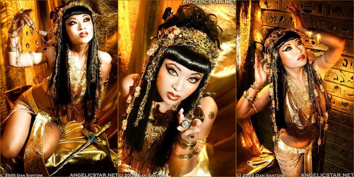 LA Jul 06, 2006 Dan Santoni Tribute to Cleopatra - hair by Michael Hall, makeup and costume by Yaya