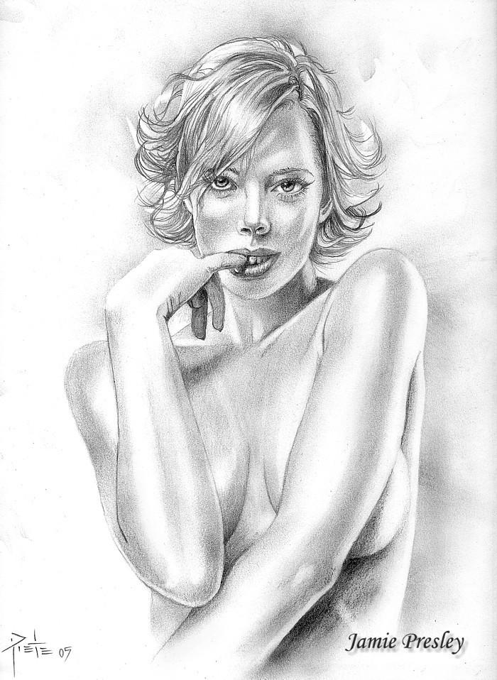Jul 11, 2006 Luv2cre8 Illustrations Jaime Pressley Graphite pencil on 8 1/2 x 11