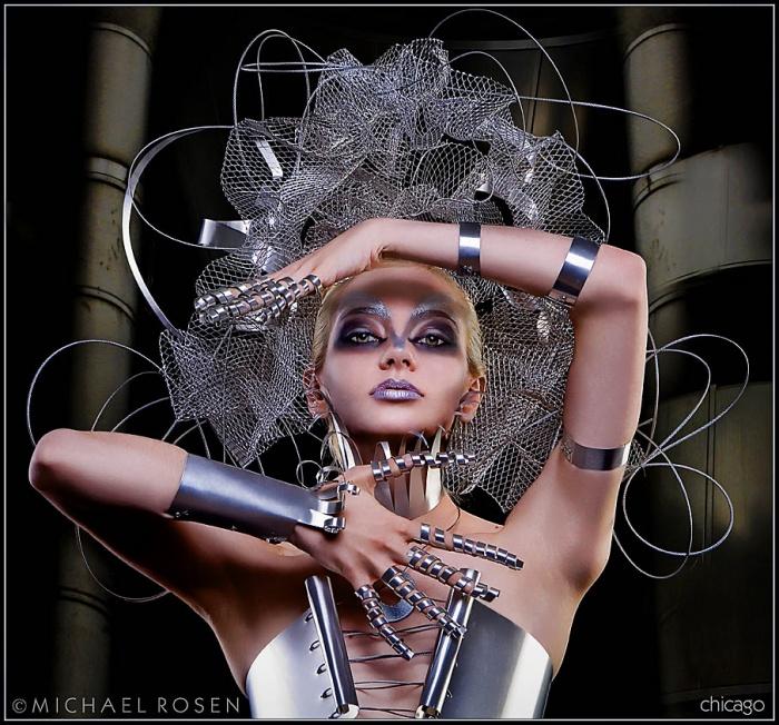 Studio 306 - Chicago Jul 12, 2006 Michael Rosen Jen Metal 1 - Metal Creation and Makeup by Model Jenni Lynn