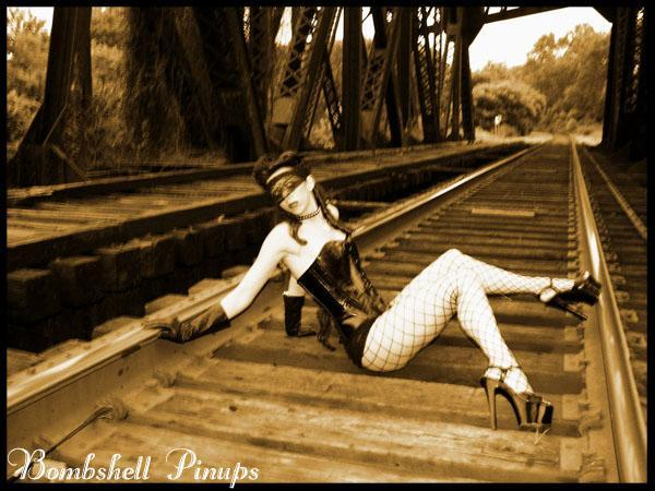 Jul 20, 2006 bombshell pinups, mua/hair/ styling bomsbell pinups kerri taylor corset on the tracks