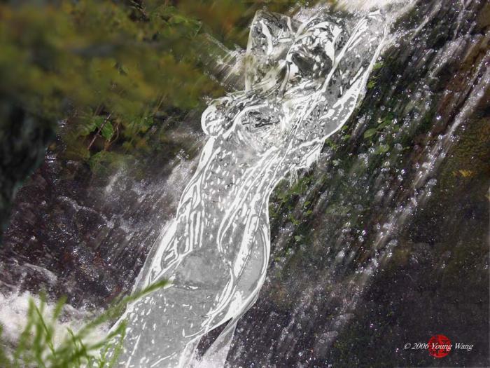 Aug 17, 2006 2006 Young Wang Naiad admist waterfall