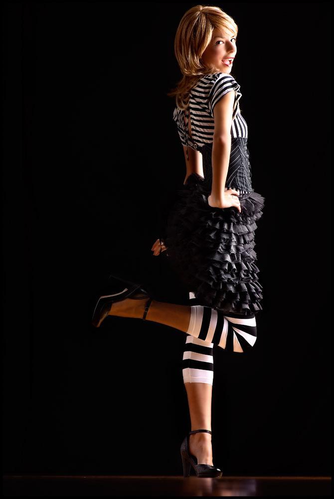 Female model photo shoot of Monica MS by Joe Verdesca in Joe Verdesca Soho Studio, makeup by Karen Keith