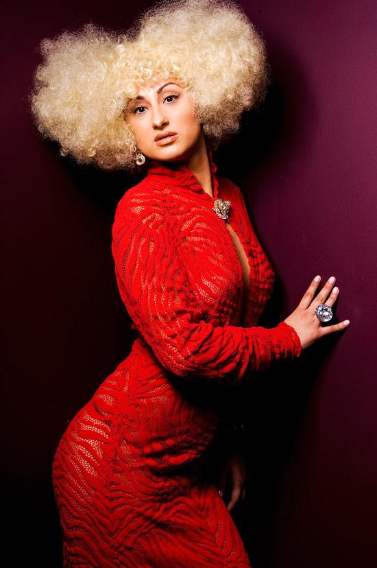 Female model photo shoot of Celeb Hair Rukey Styles in Perrish Lewis Studio - Makeup by Landis - chicago