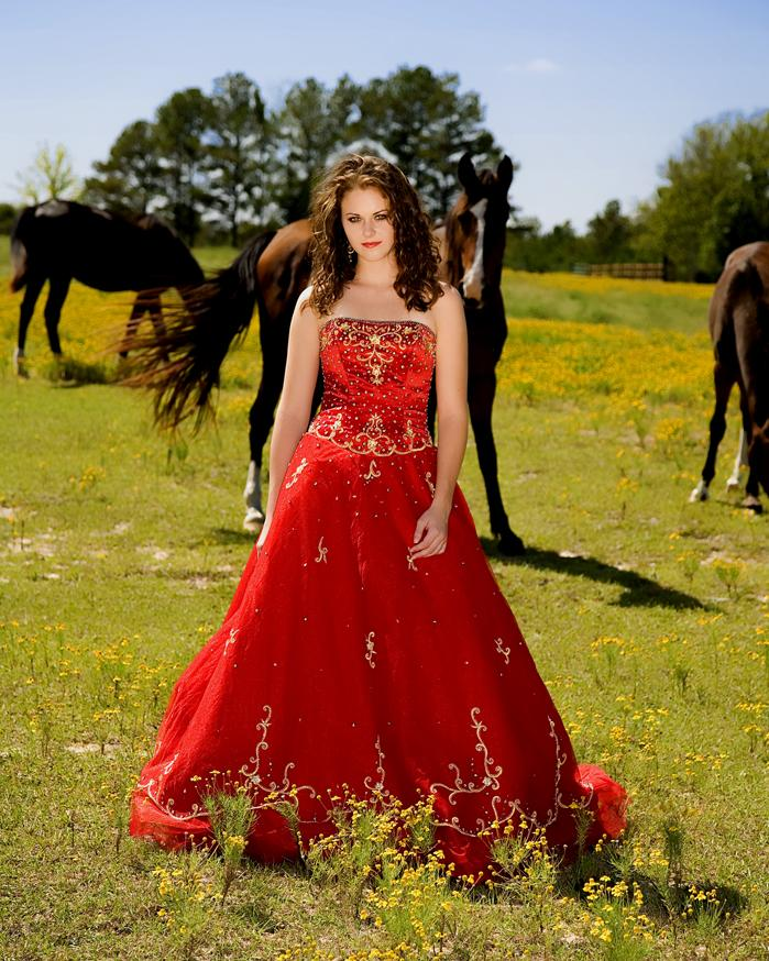 near Maplesville, Alabama (yes, she is barefoot, and yes, the horse did come give her a big kiss on the back of the neck) Sep 15, 2006 Grimes Enterprises LLC 2006 Alabama Fashion with Santanna