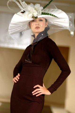 New York City Oct 12, 2006 USA International Fashion Shows NYC Couture Fashion Week --Miranda Green Millinery
