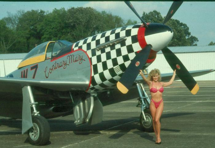 Courtland Ala. airshow, 1991. Oct 12, 2006 Colonial Photography A P-51 and her namesake