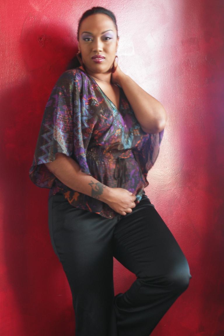 Female model photo shoot of ROXI MILAN by Blackmirror Photogenics in MUA - myself