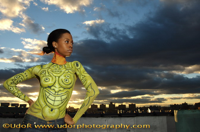 The Bronx Art Center, Bronx, NY Oct 27, 2006 UdoR Photography Bodypaint Project with Andy Golub, Model Courtanie
