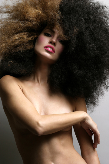 NYC Oct 28, 2006 www.KadeLam.com Model Rita M. Make-up by Kim Williams. Hair by Hadiiya B.