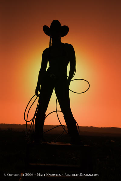 Loleta, California Nov 15, 2006 2005 Cowgirl Sunset II - Used for the cover of 3 novels - To Tame A Cowgirl, Sparta Rose, and Never Shoot A Stampede Queen