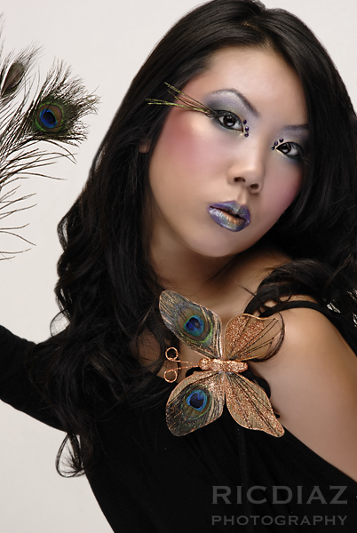 fremont Nov 16, 2006 Ric Diaz photography, Model Jayneen, Hair/MU by Tamanna. Styling by Jayneen and Tamanna sexy peacock theme