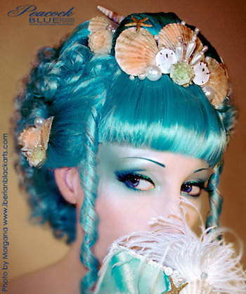 Nov 28, 2006 2006 Peacock Blue Design Studio/Iberian Black Arts The Sea Goddess Wig From Our Special Collection. Makeup, styling and modeling by Feisty Diva. Photo by Iberian Black Arts (www.iberianblackarts.com)