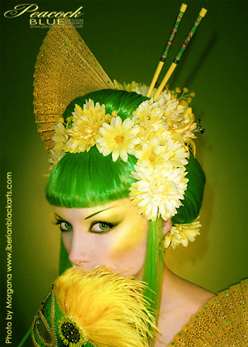 Nov 28, 2006 2006 Peacock Blue Design Studio/Iberian Black Arts The Citron Geisha Wig From Our Special Collection. Makeup, styling and modeling by Feisty Diva. Photo by Iberian Black Arts (www.iberianblackarts.com)
