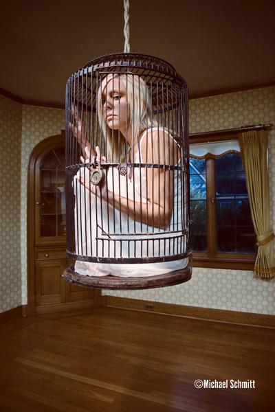 Dinning room Dec 13, 2006 Michael Schmitt Kelly caged