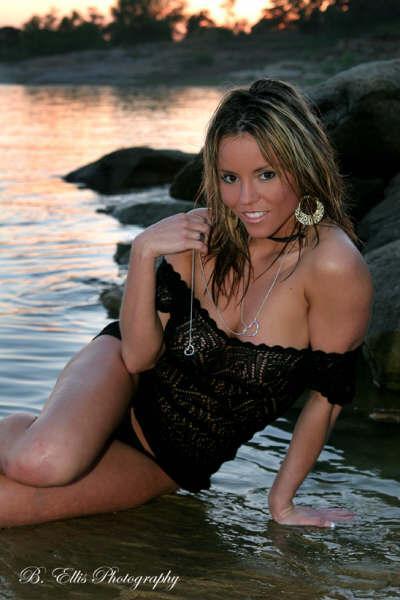 Female model photo shoot of Kolby LS in Grapevine Lake, Texas