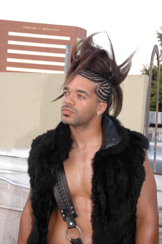 Los Angeles- Angels Salon Rooftop Jan 06, 2007 All my natural hair!