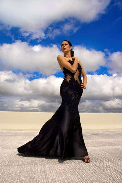 Miami Jan 06, 2007 Hector Rodriguez Designer Eduardo De las Casas , Model: Jessica, Hair & Make up by Marlene Avila