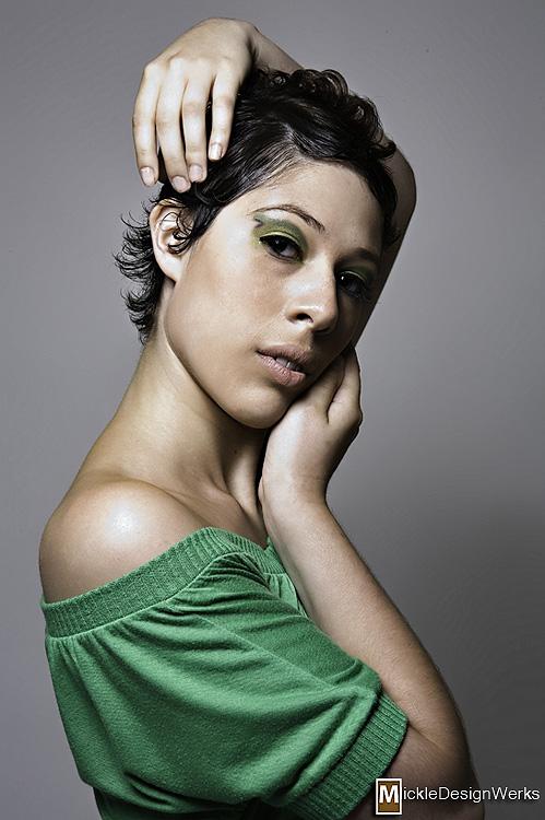 Female model photo shoot of Audra Isadora by Mickle Design Werks, makeup by Rhonda M