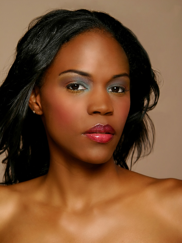 Female model photo shoot of Clarinda H by B L O P H O T O in Chicago, IL, makeup by Kimberly Steward