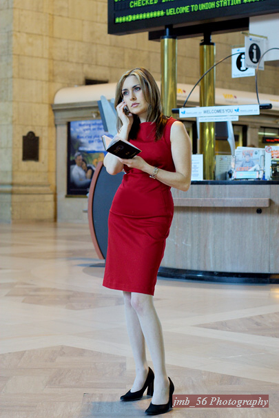 Female model photo shoot of Fabulous von Vette in Toronto Union Station, Canada