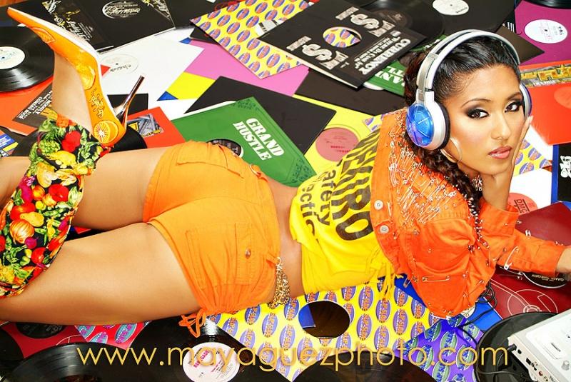 NYC Maya Guez studio Jan 26, 2007 (c) Maya Guez Chenele new recording artist signed with Virgin records
