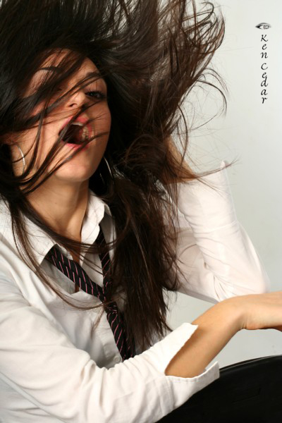 Female model photo shoot of Julia Royter by KEN CEDAR in NYC