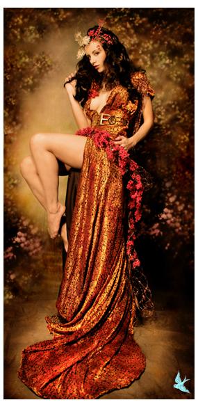 mua lisa naeyaert , concept/wardrobe styling by carly erin#144223.. designer? Feb 08, 2007 666 photography kerri taylor pinup orange dress
