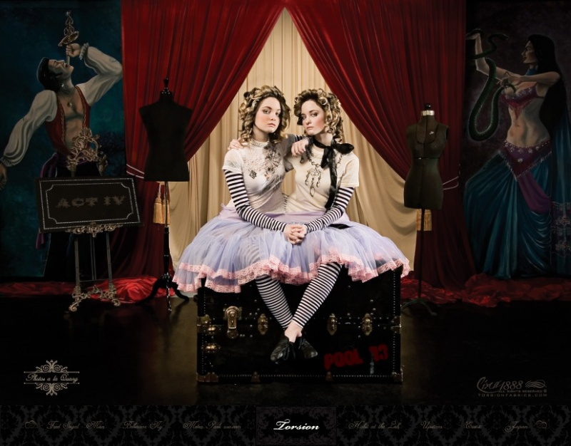 Female model photo shoot of jstmakeup and The Gorton Twins by photos ala quang in The Freak Show