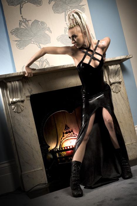 Female model photo shoot of Maleficent Martini in i