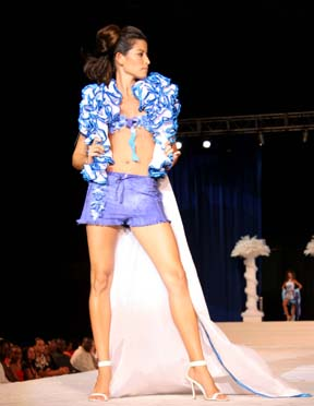 Barbados Feb 18, 2007 Michelle  Bayley  Absolute Vodka Fashion Show - Sonia Noel Designs