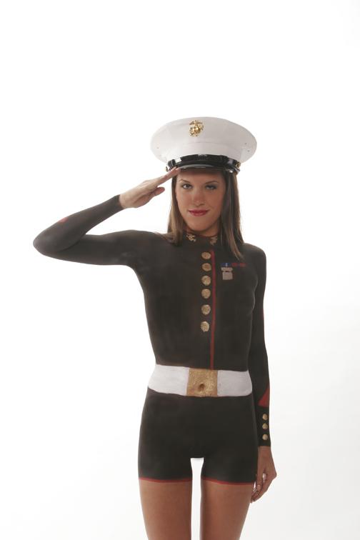 My Largo Studio Feb 20, 2007 waynecollinsogotography.com Candace     Marine Uniform