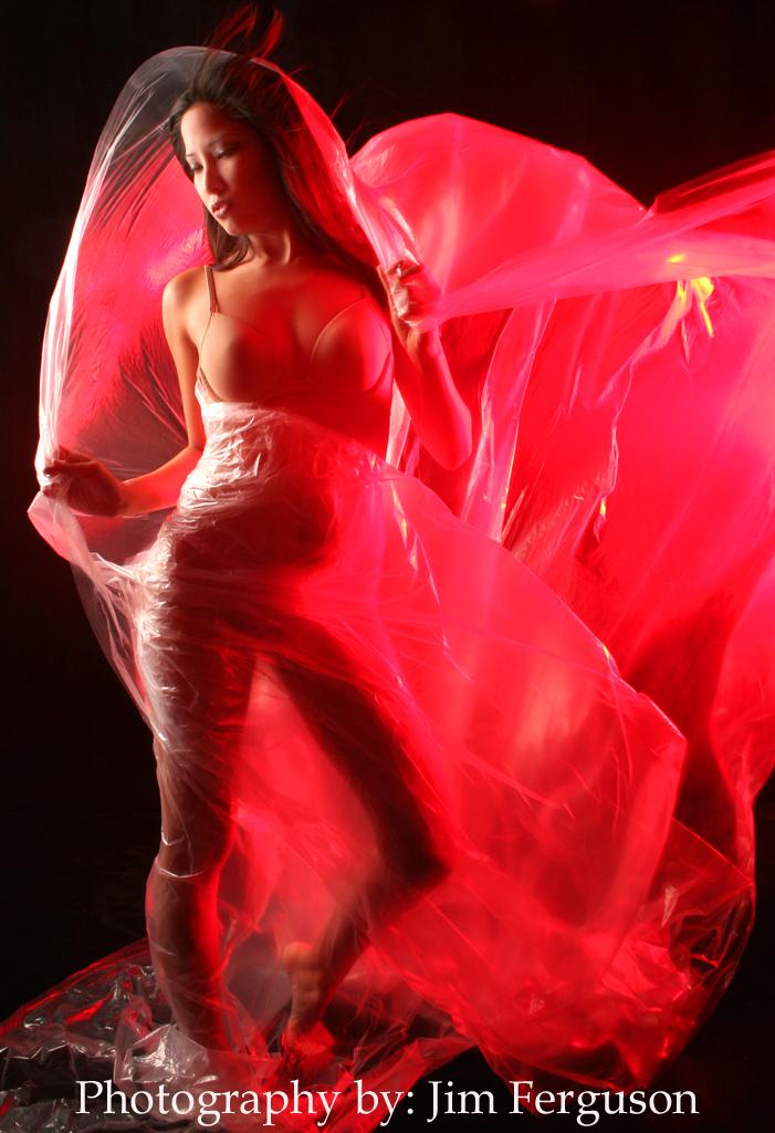 Mahoney Model Shoot 2007 Feb 25, 2007 Jim Ferguson Ashley wrapped in red plastic