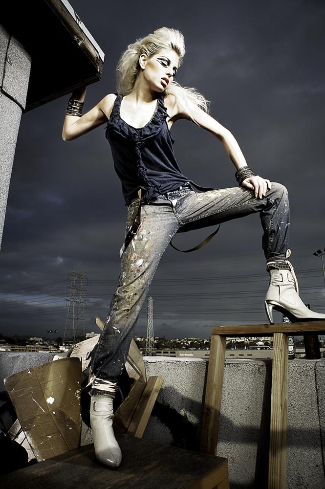 Female model photo shoot of ashley lindsay morgan by Creative Destruction in Downtown LA, CA, makeup by LEISHA MCCORD