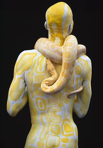 NYC Mar 06, 2007 iocoBodyArt Albino Burmese Python