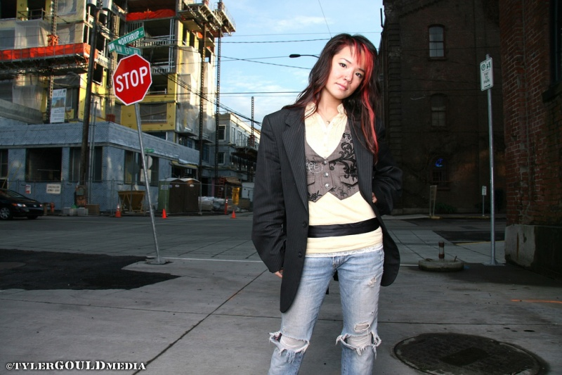 Female model photo shoot of Desiree Cromwell by Tyler Gould in Pearl District, Portland, OR