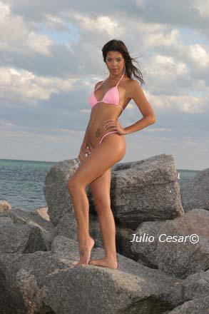 key biscayne, Florida Mar 08, 2007 Julio Cesar bikini shot