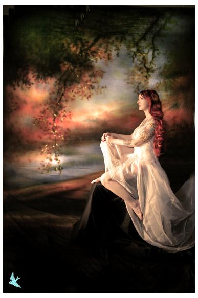 666 studios Mar 11, 2007 666photography Model: Tara, MUA Lisa Naeyaert, Handpainted packdrop!