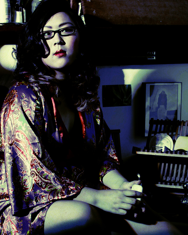 Female model photo shoot of Grace Face by LeDeux Art in Parkus Studio West, makeup by Jonathan Reese