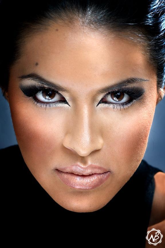 Female model photo shoot of Rosalba Va by Niki B, makeup by YOUR FACE MY ART