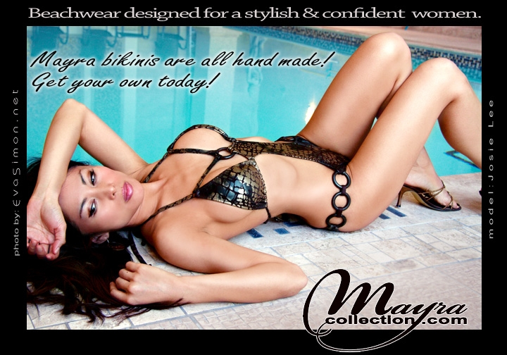 Toronto, ON, Canada Mar 29, 2007 Eva Simon Tearsheet: Mayra Beachwear, www.mayracollection.com