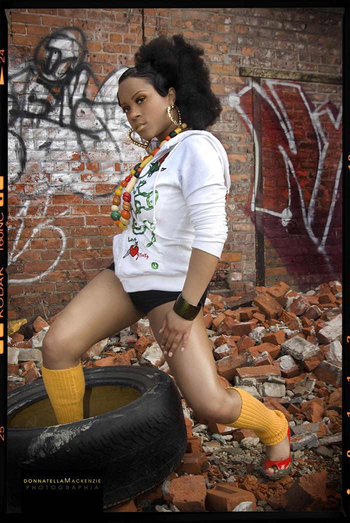 Female model photo shoot of donnatella macKenzie in detroit
