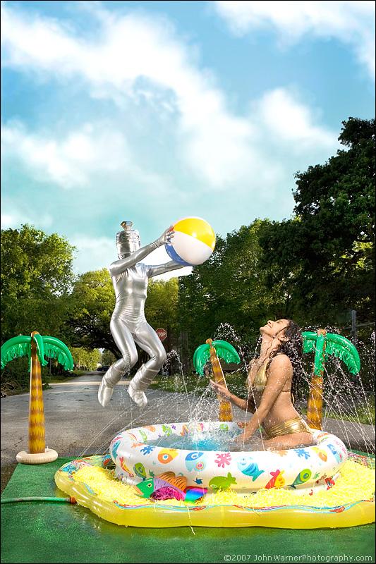 Male and Female model photo shoot of John Warner, apneatic and Sandy Garza in Lithium Picnic studio