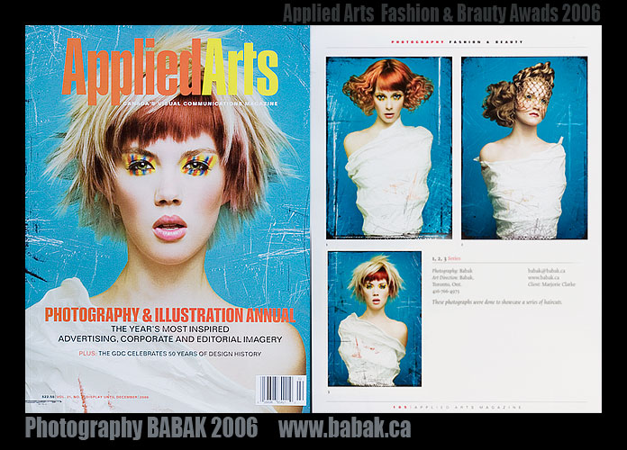 Apr 09, 2007 Photography BABAK  www.babak.ca Applied Arts Cover