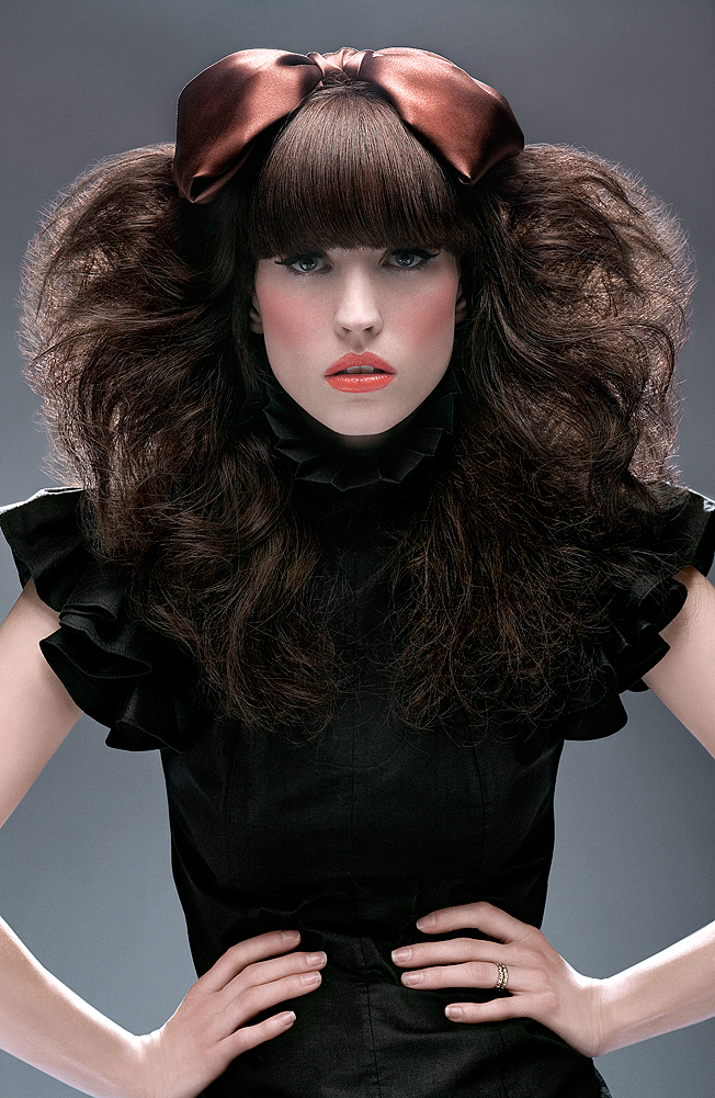 Female model photo shoot of Kojii Helnwein by Gaelle M in Downtown, Los Ange;les, makeup by Lottie