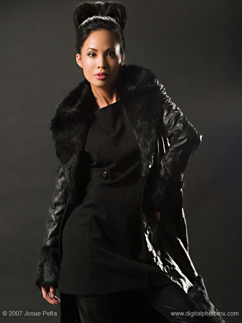 Female model photo shoot of Erika Lee by Josue Pena, makeup by jstmakeup