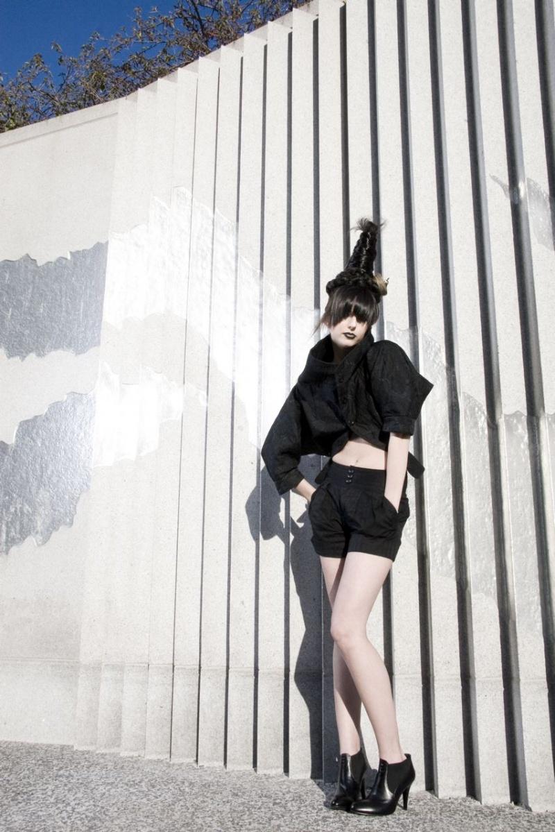 Female model photo shoot of Tara C and AMP in San Francisco, makeup by Brickhouse Beauty Inc