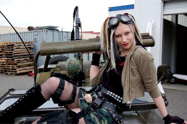 Tacoma,WA May 01, 2007 Photographer: Evan Shimono; MUA: Danyale; Hair: Jen Page Fear me and my monkey purse!