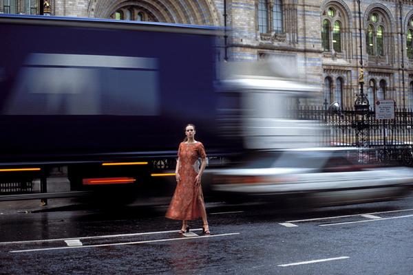 London,UK May 05, 2007 Sam Dhaliwal Dancing In the Rain